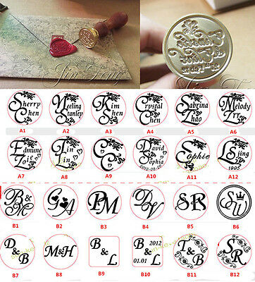 Custom Made 128 Style Initial NAME&DATE Wedding Invitation Letter Wax Seal Stamp