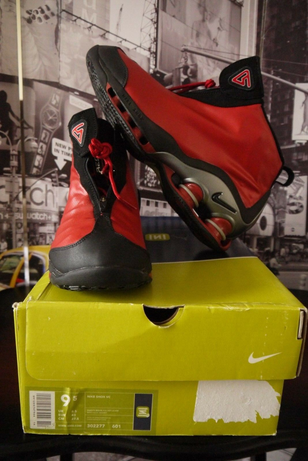 2001 NIKE SHOX VC 1 VINCE CARTER RED US 9.5 NEW RARE Collector