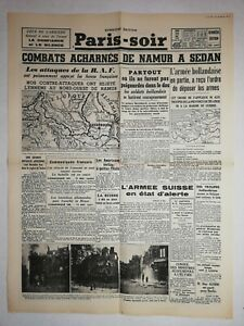 N1155-La-Une-Du-Journal-Paris-soir-16-mai-1940-combat-acharne-Namur-a-sedan