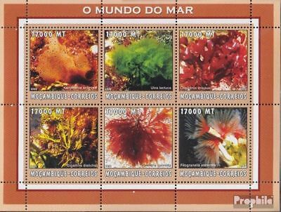 Intellective Mozambique 2614-2619 Sheetlet Unmounted Mint Never Hinged 2002 World Of Marine Delicacies Loved By All Stamps