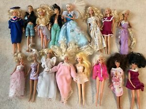 VINTAGE-LOT-16-Mattel-70s-80s-90s-Barbie-Ken-Barbie-Doll-Lot-Clothed