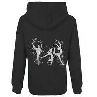 Girls Diamante Rhythmic Gymnastics Zip hoodie Zoodie FREE PERSONALISATION (SH)