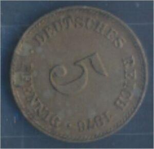 German-Empire-Jagerno-3-1876-G-ext-fine-Copper-Nickel-1876-5-Pfennig-7849155