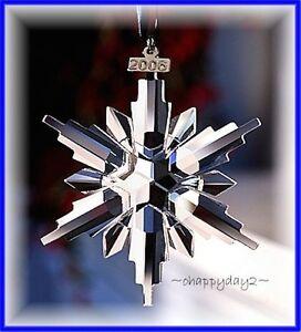 Swarovski 2006~Snowflake STAR Annual Christmas ORNAMENT~ NIB~ Large ...