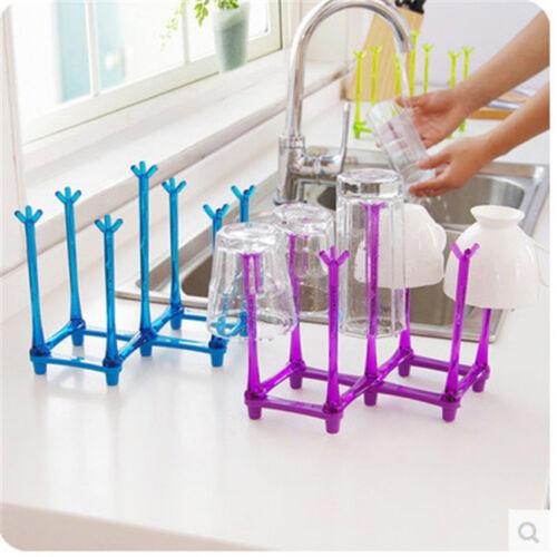 Kitchen Glass Cup Rack Water Mug Draining Drying Organizer Drain Holder Stand