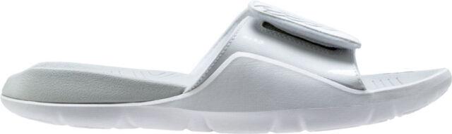 pretty nice aeb96 23383 Nike Air Jordan Hydro 7 Slide Sz 10 White Pure Platinum Aa2517 100