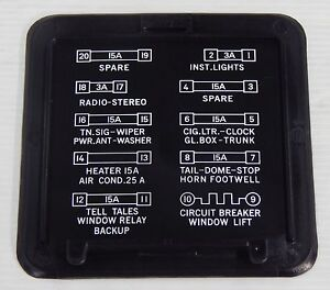 details about holden kingswood monaro gts hq hj hx hz under dash fuse box  cover lid