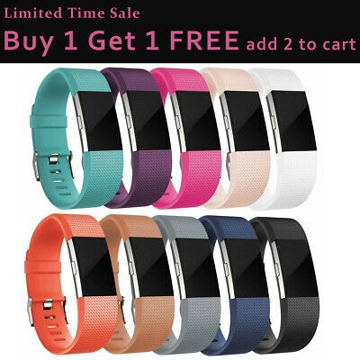 For Fitbit Charge 2//HR Replacement Silicone Rubber Strap Wrist Band Bracelet S//L