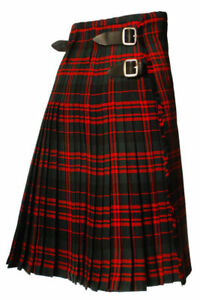 8 Yd Scottish Highland Men's Traditional Tartan Ecossais Sewn Pleats Top Quality-afficher Le Titre D'origine