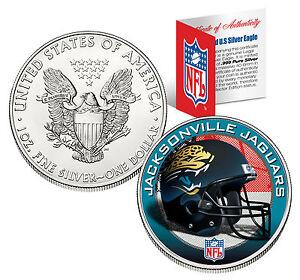 JACKSONVILLE-JAGUARS-1-Oz-999-Fine-Silver-American-Eagle-1-Coin-NFL-LICENSED