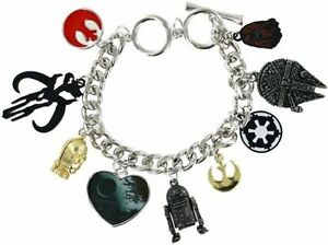 Star-Wars-Movie-Charm-Bracelet-Pendant-Rebel-Alliance-Chewbacca-R2D2-Licensed