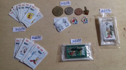 20 figurines accessoires lot de cartes diverses astérix   au choix...