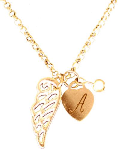 collier nom personnalisé Coeur Arbre Love 18K Plaqué Or Blanc Cadeau Bijouterie