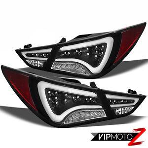 Diamond Black Led Tail Light L R Brake Lamp 2011 2013 Sonata Gls Limited Se Ebay