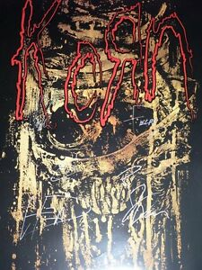 KORN-Hand-Signed-TOUR-POSTER-ALL-5-W-PROOF-L-K