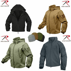 Rothco-Waterproof-Windproof-Tactical-SoftShell-Jacket-Cold-Weather-w-Watch-Cap