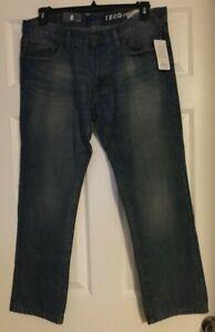IZOD-Light-Blue-Blast-Slim-Straight-Fit-Denim-Jeans-Size-36x30-or-40x32-NWT