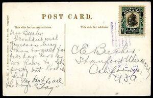 Panama-pour-USA-diffuse-CARTE-POSTALE-1910-VF