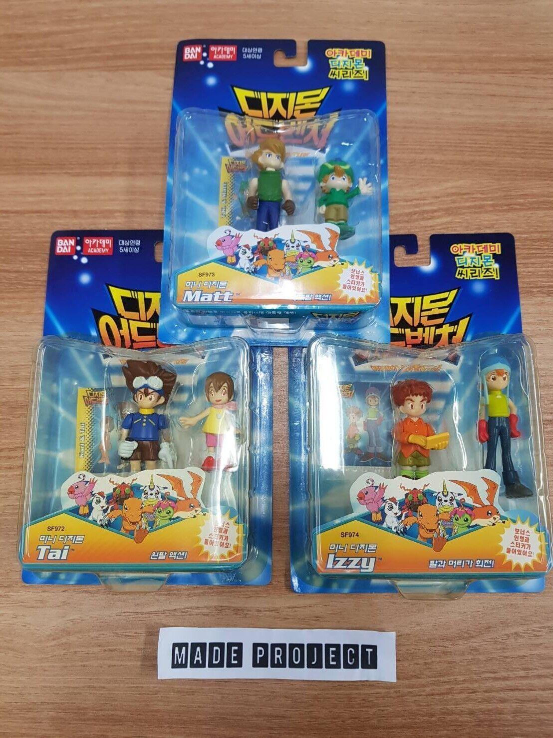 Bandai DIGIMON Izzy Matt Tai etc. 6 Character Figures Korea Official bras