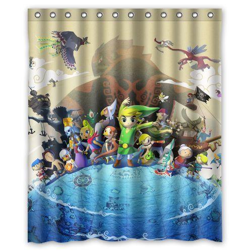 Custom The Legend Of Zelda Wind Waker Bathroom Shower Curtain 60x72 Inch