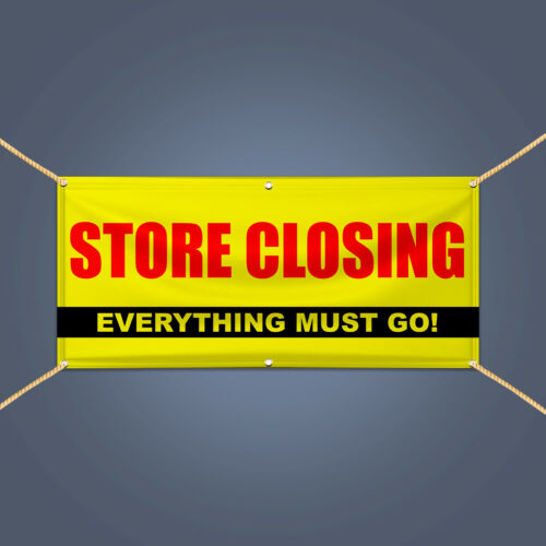 Store Closing Everything Must Go Banner 3/' X 2/' Advertising Shop Vinyl Sign