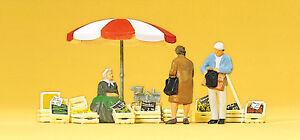 preiser-10337-SENTADOS-marktfrau-clientes-Accesorio-H0