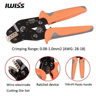 IWISS PH2.0//XH2.54//Dupont//KF2510//JST Terminal Ratchet Crimper 0.08-1mm2 AWG18-28