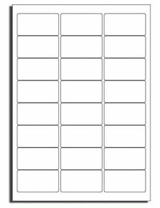 White Address Labels24 per sheetSelf adhesive Sticky Labels