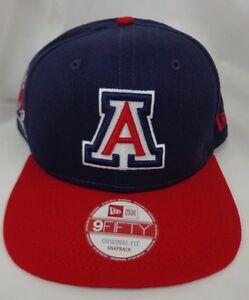 online retailer 3a0c5 62638 Image is loading Arizona-Wildcats-Mens-New-Era-Snapback-Cap-Hat
