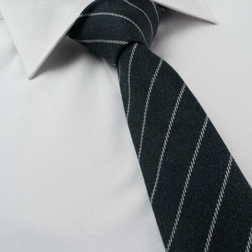 Wool Ties Tweed Check Stripe Skinny Slim Greys Red Silver Plaid