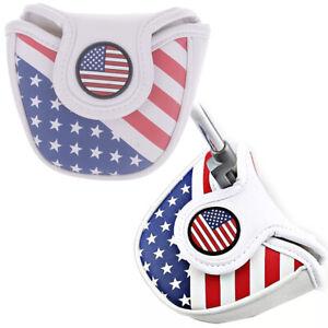 USA-AMERICA-Flag-Mallet-Putter-Cover-Headcover-For-Center-Shaft-Putter