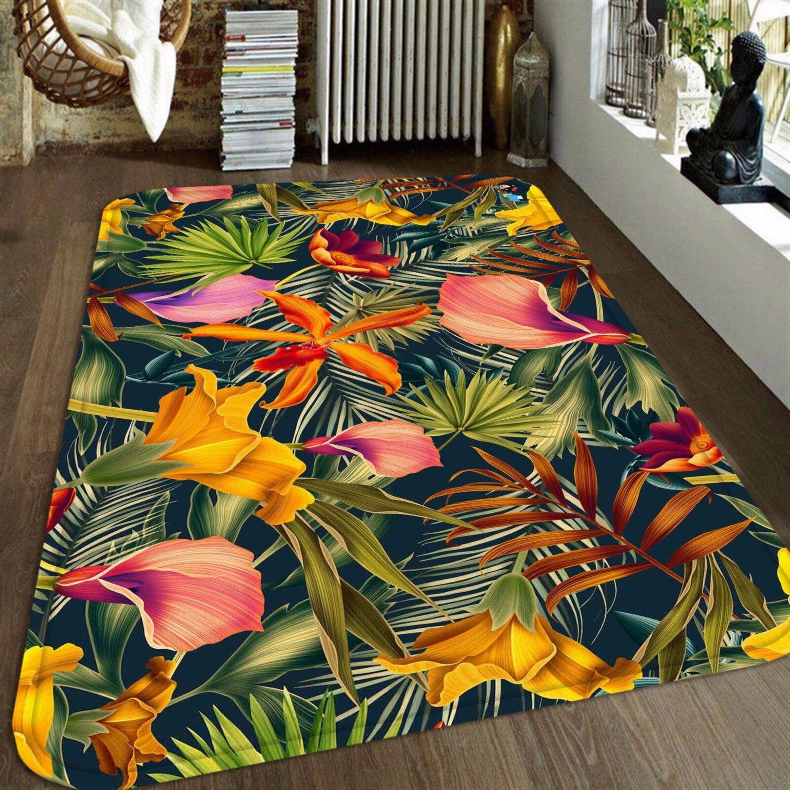 3D fower avevamo il fiatone 44 tappetino antiscivolo tappeto camera Tappetino Qualità Elegante foto Tappeto UK