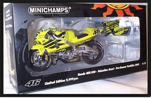 Honda NSR 500 500 500 2001 V.Rossi Preseason  122016946  1 12 Minichamps 81e471