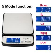 Digital Postal Shipping Scale 50Lb Battery AC Adapter Tare Function
