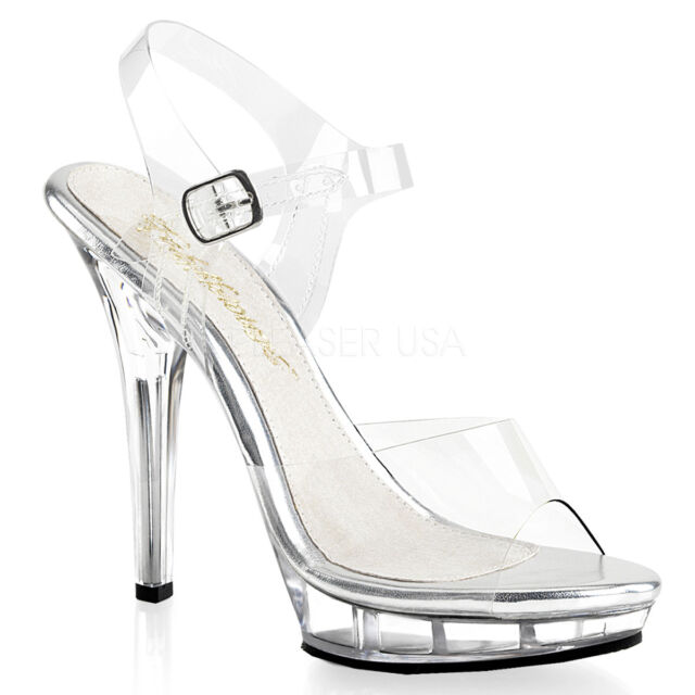 633d8bc8770 PLEASER FABULICIOUS LIP-108 POLE DANCING COMPETITION STILETTO HEEL SANDALS  SHOES