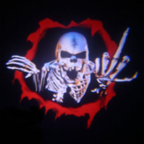2x LED Auto Tür Willkommen Logo Licht Batman Skull Shadow Laser Projektor 3D