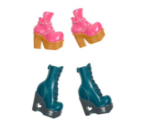 Bratz #Shoefiesnaps Pack 3-2 Pairs Shoes Turquoise Boots Pink Shoes