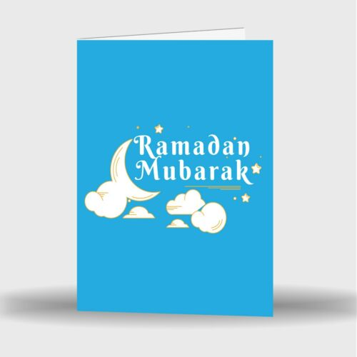 Single Or Pack Of 4 Ramadan Mubarak Kareem Celebration Greeting Card Gift D6