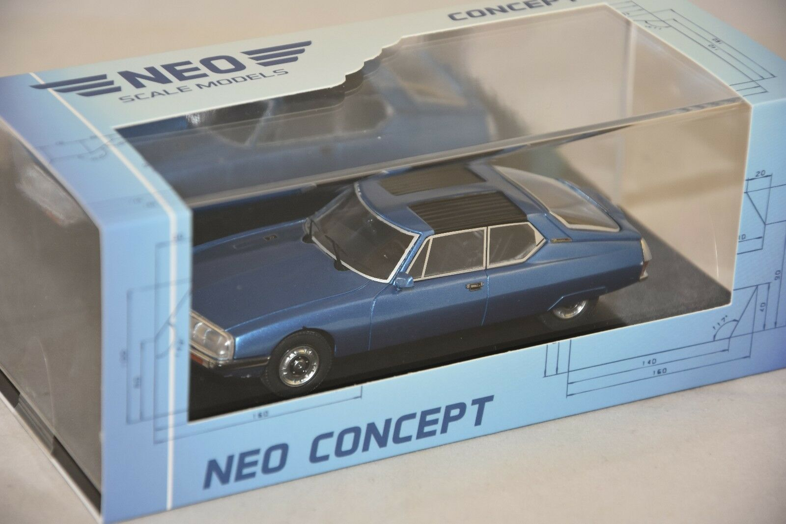 Neo 47000-citroen sm space by Heuliez bluee - 1971 1 43