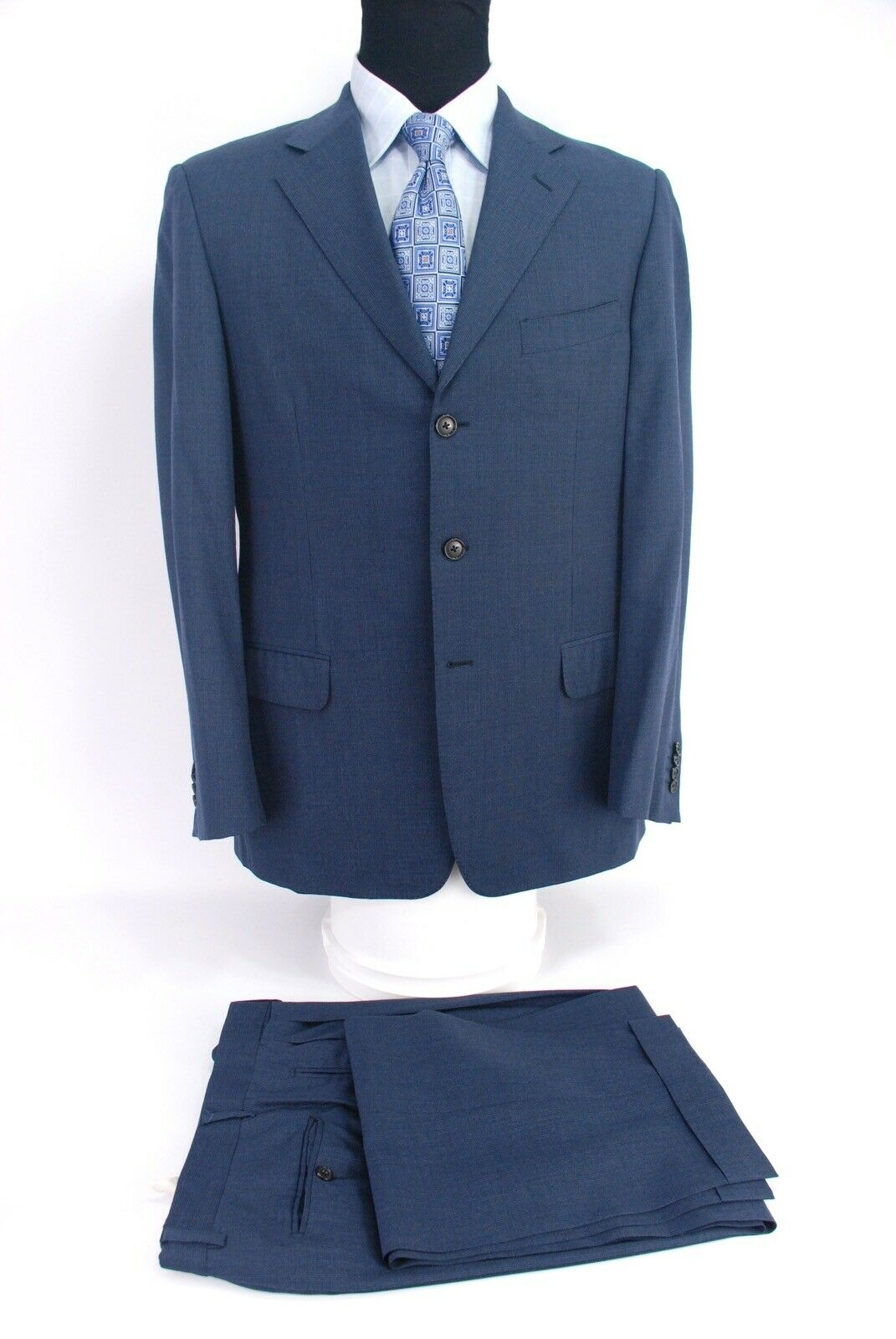Ermenegildo Zegna  3Btn Suit bluee Wool Men's 42R