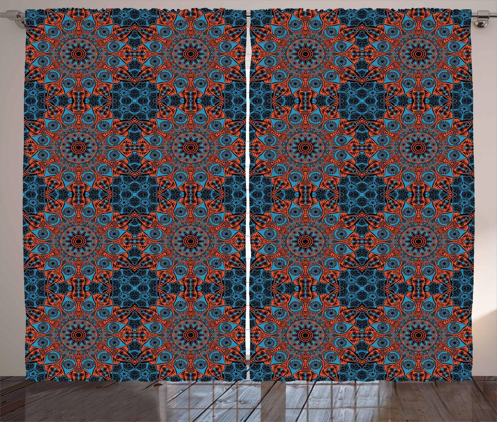 Arabesque Mandala Curtains 2 Panel Set Decoration 5 Dimensiones Window Drapes