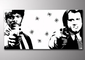 QUADRO-PULP-FICTION-realizzato-a-mano-pop-art-italia-PRONTO-D-039-APPENDERE