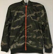 8009b332f71a8 Faded Glory Boys Hooded Sherpa Jacket Size XXL 18 Green Tech Camo/Orange ZIP