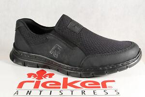 RIEKER Mocassins Chaussures basses femme, basket noir, memosoft, b4873 NEUF
