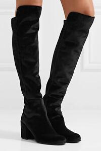 a7a596448e093 Details about New Stuart Weitzman Lowjack Black Velvet Tall Knee Boot Women  10M $698
