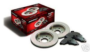 PEUGEOT 106 206 306 GTI Tous Les Modèles Arrière 2 Disques de frein et mintex pads set new