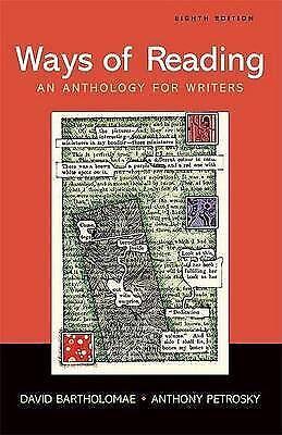 Ways of reading: an anthology for writers by David Bartholomae (Paperback /