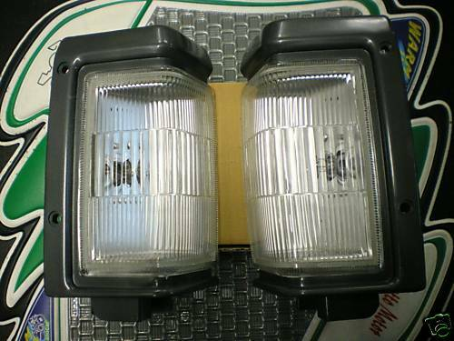 fanale fanalino ant dx+sx nissan king cab anno 87/>92