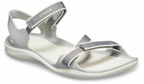 NUOVO Crocs Swiftwater CINGHIA SANDALO DONNA PISCINA Croslite Slip-On Sandali