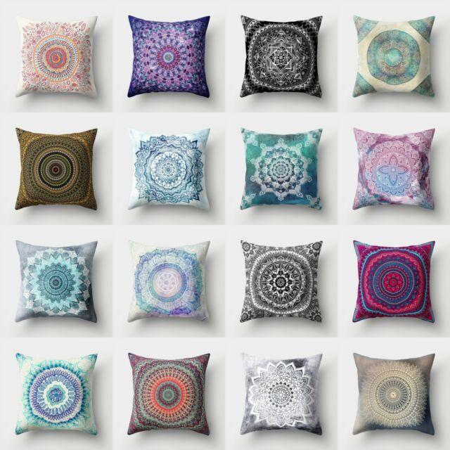 Home Sofa Rainbow Pillow Cushion Throw Case Decor Cover Linen Cotton Waist Room